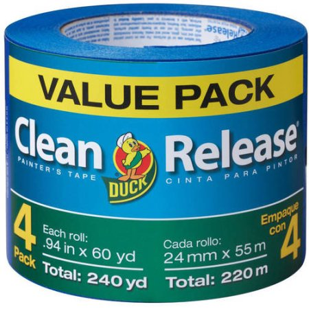 Duck Brand Clean Release Painter's Tape, Blue, .94